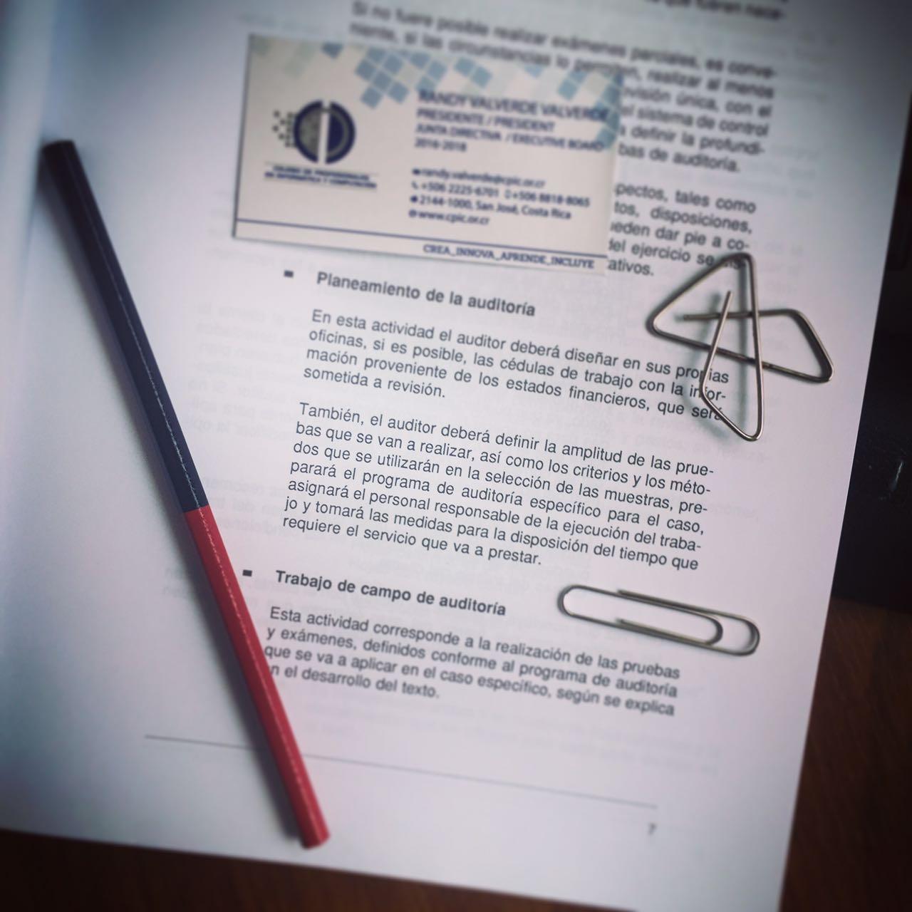 Planeamiento - Auditor Randy Valverde Valverde